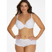 Daisy Lace Plunge Wired Bra