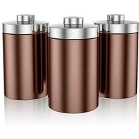 Swan Set of 3 Storage Canisters Copper