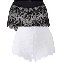 2 Pack Lottie Lace Black/White Briefs