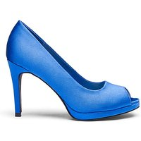 Heavenly Soles Platform Peep Toe E Fit