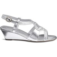 Heavenly Soles Sparkly Wedge E Fit