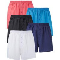 Southbay Pack of 5 Plain Woven Boxers