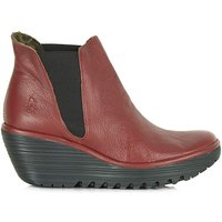 Fly London Leather Wedge Ankle Boot