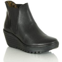 Fly London Black Wedge Ankle Boot