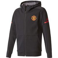 adidas MUFC Boys Youth Hooded Tracktop