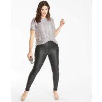 Chloe Stretch Coated Skinny Jeans Long