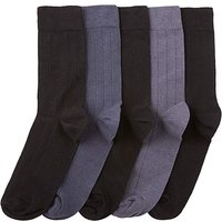 Southbay Pack of Five Ribbed Socks