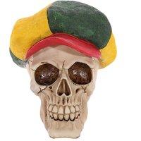 Gothic Skull Decoration Rasta Hat