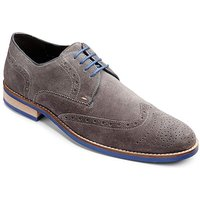 Image of Black Label Suede Brogue Wide Fit