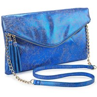 Metallic Tassel Clutch Bag