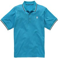 Jacamo Turquoise Tipped Polo Long