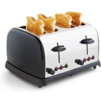 JDW 4 Slice Black Toaster