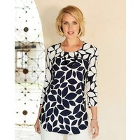 Nightingales Print Tunic And Necklace