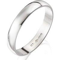 Platinum D Shape Ladies Wedding Band-3mm