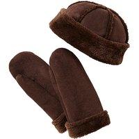 Faux Sheepskin Hat & Mitts