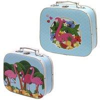 Set of 2 Craft Cases - Flamingo Design