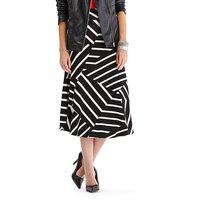 Stripe Jersey Midi Skirt