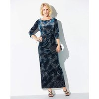 Nightingales Devore Knot Maxi Dress
