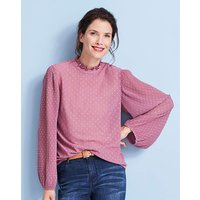 Wild Rose Pleated Sleeve Blouse