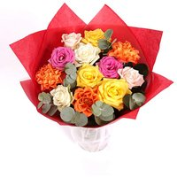 Colourful Mixed Rose Bouquet