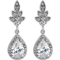 Jon Richard leaf and pear drop earring