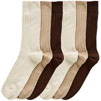Capsule Pack of 6 No Elastic Socks