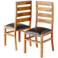 Origen Sheesham Wood Dining Chairs at JD Williams Catalogue