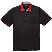 Black Label Pattern Collar Polo R