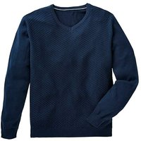 Black Label Navy V-Neck Knit Regular