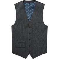 Black Label Puppytooth Wool Waistcoat