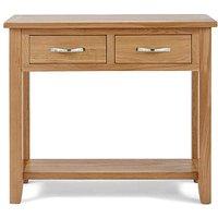 Harrogate Oak 2-Drawer Console Table