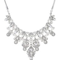 Mood Silver Crystal Cluster Necklace