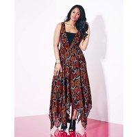 Grazia Floral Print Hanky Hem Dress