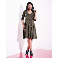 Grazia Metallic Knit Skater Dress