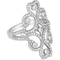 Jon Richard silver swirl ring