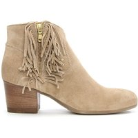 Daniel Taupe Suede Fringe Ankle Boot