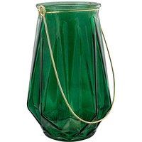Amazonia Green Glass T Lite Lantern