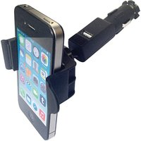 Mobile phone holder with USB plug