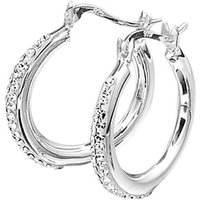 Crystal Glitz Silver Hoop Earrings