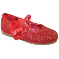 Sparkle Club Red Glitter Party Shoes