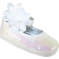 Sparkle Club White Softsole Baby Shoes