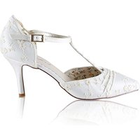Perfect Lace Twisted T-Bar Court Shoe