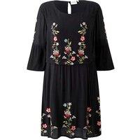 Junarose Embroidered Smock Dress