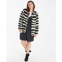 Junarose Faux Fur Stripe Jacket