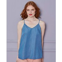 Soft Lyocell Denim Strappy Cami Top