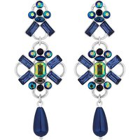 Mood Blue Crystal Statement Earring