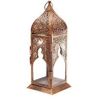 Tall Glass Moroccan Style Lantern