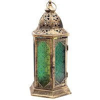 Tall Coloured Moroccan Style Lantern