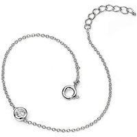 Sterling Silver Simple Chain Bracelet.