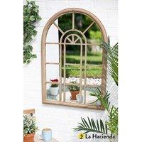 La Hacienda Rounded Arch Garden Mirror